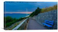 west cliff Sunset Bournemouth Dorset Uk , Canvas Print