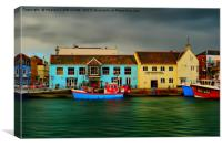 Weymouth Old Harbour, Canvas Print
