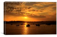 Sunset at Eastney Portsmouth UK, Canvas Print