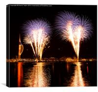 Spinnaker Tower Fireworks 1, Canvas Print