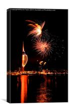 Spinnaker Tower Fireworks 12, Canvas Print