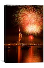Spinnaker Tower Fireworks 14, Canvas Print