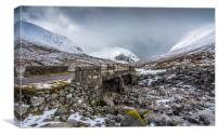 Highland bridge, Canvas Print