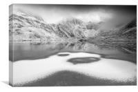 Snow patterns, Canvas Print