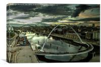Newcastle through a Baltic Darkly, Canvas Print
