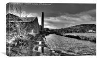 Pennine Canal, Canvas Print