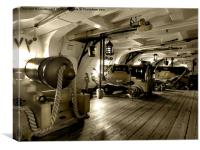 Gun Deck, Canvas Print