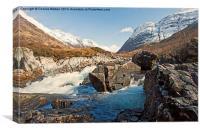 The Aonach Eagach Ridge - Glencoe , Canvas Print
