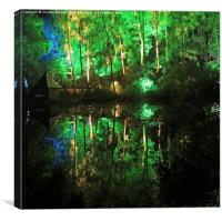 Light show, Canvas Print