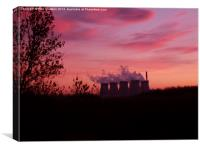 Ferrybridge Power Station at Sunset, Canvas Print