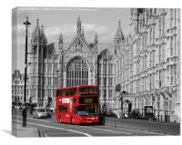 London Bus, Canvas Print
