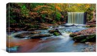 Waterfall at Nant Mill., Canvas Print