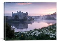 Leeds Castle at Dawn, Canvas Print
