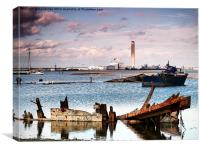 Gillingham Riverside , Canvas Print