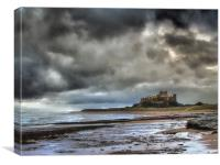 Dramatic Bamburgh Castle, Canvas Print