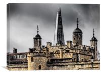 The Shard over the Tower of London., Canvas Print