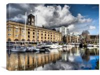 St Catherines Dock, London., Canvas Print