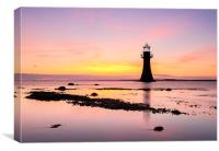 Whiteford Point Lighthouse, Canvas Print