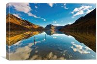 Buttermere Mirrored, Canvas Print