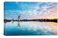 Calm Morning at Thurne, Canvas Print