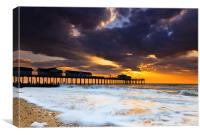 The Stormy Pier, Canvas Print