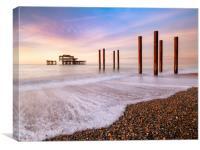 West Pier Sunrise, Canvas Print