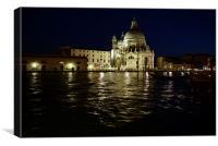 Venice at night Grand Canal and Santa Maria Della , Canvas Print
