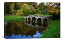 Bridge at Stourhead , Canvas Print