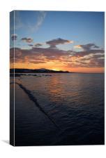 Sunrise overlooking Estepona, Costa del Sol, Canvas Print