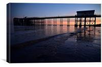 Penarth Pier at sunset , Canvas Print