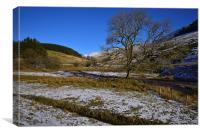 The Brecon Beacons during winter , Canvas Print