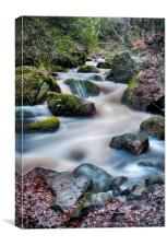 Wyming Brook waterfall, Canvas Print