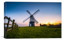 Wrawby Windmill sunset, Canvas Print