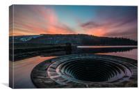 ladybower reservoir sunset, Canvas Print