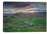 sunset over edale, Canvas Print