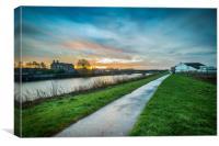 River Trent sunrise, Canvas Print