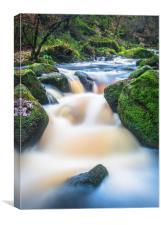 Wyming Brook waterfall , Canvas Print