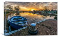 Sunrise at Torksey lock, Canvas Print