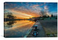 sunrise at torksey lock , Canvas Print