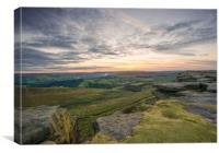 stanage edge sunset, Canvas Print