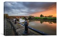 Trent bridge  gainsborough, Canvas Print