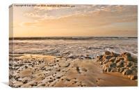 Sunrise Bracelet Bay., Canvas Print