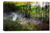 Abstract Bluebells, Canvas Print
