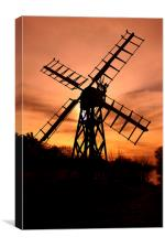 Wind pump , Canvas Print