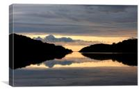 The Loch reflection, Canvas Print