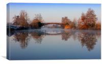 The Bridge reflection, Canvas Print