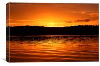 Walden Pond sunset., Canvas Print