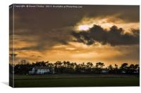 Scarisbrick sunset, Canvas Print