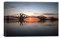 Sunset on the Forth, Canvas Print