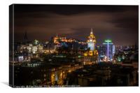 Edinburgh from the hill, Canvas Print